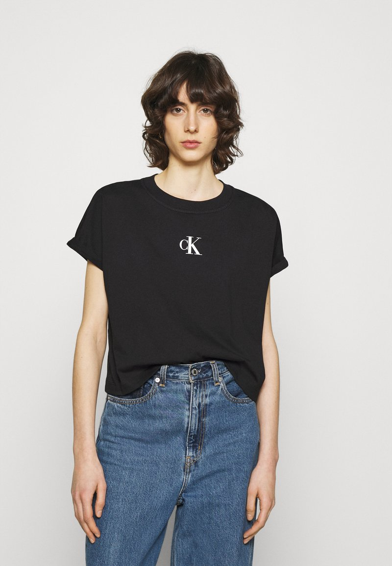 Calvin Klein Jeans - URBAN LOGO TEE - Printtipaita - black