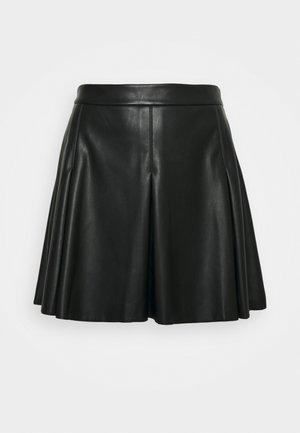 VISYBILLE COATED SKIRT - Mini skirt - black