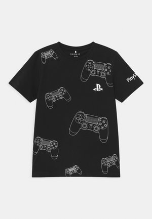 NKMPLAYSTATION ALFE - Print T-shirt - black