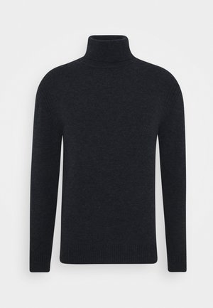 IVO TURTLE NECK SWEATER - Stickad tröja - navy melange