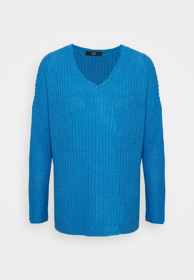 MALIBU V-NECK BEACH  - Sweter - electric blue