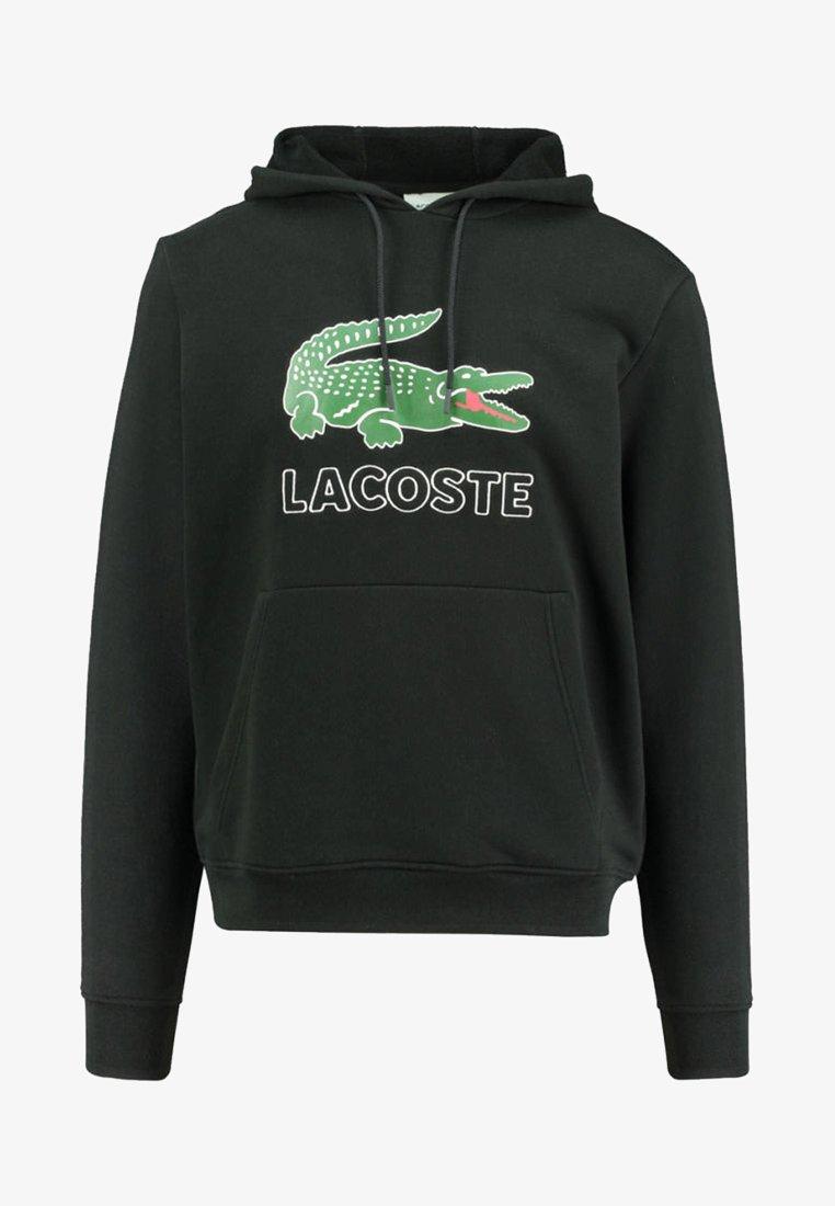 Lacoste - Bluza z kapturem - black
