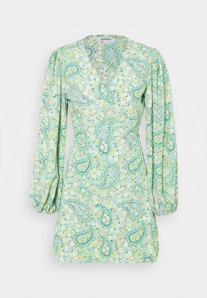 Day dress - green paisley