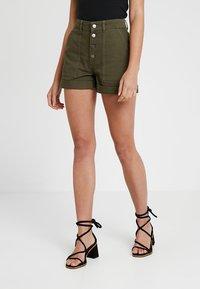 TWINTIP - Denim shorts - khaki - 0