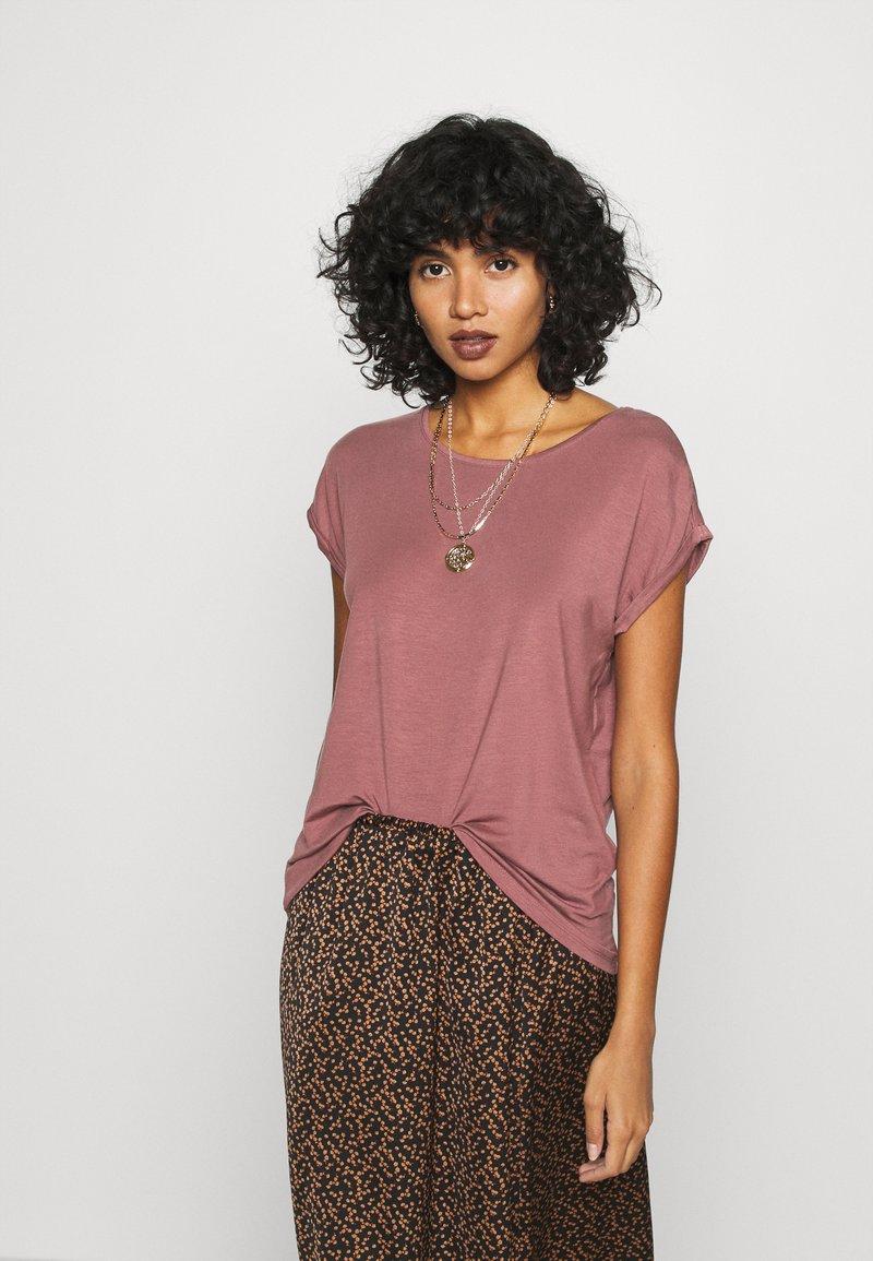 Vero Moda - VMAVA PLAIN - Basic T-shirt - rose brown