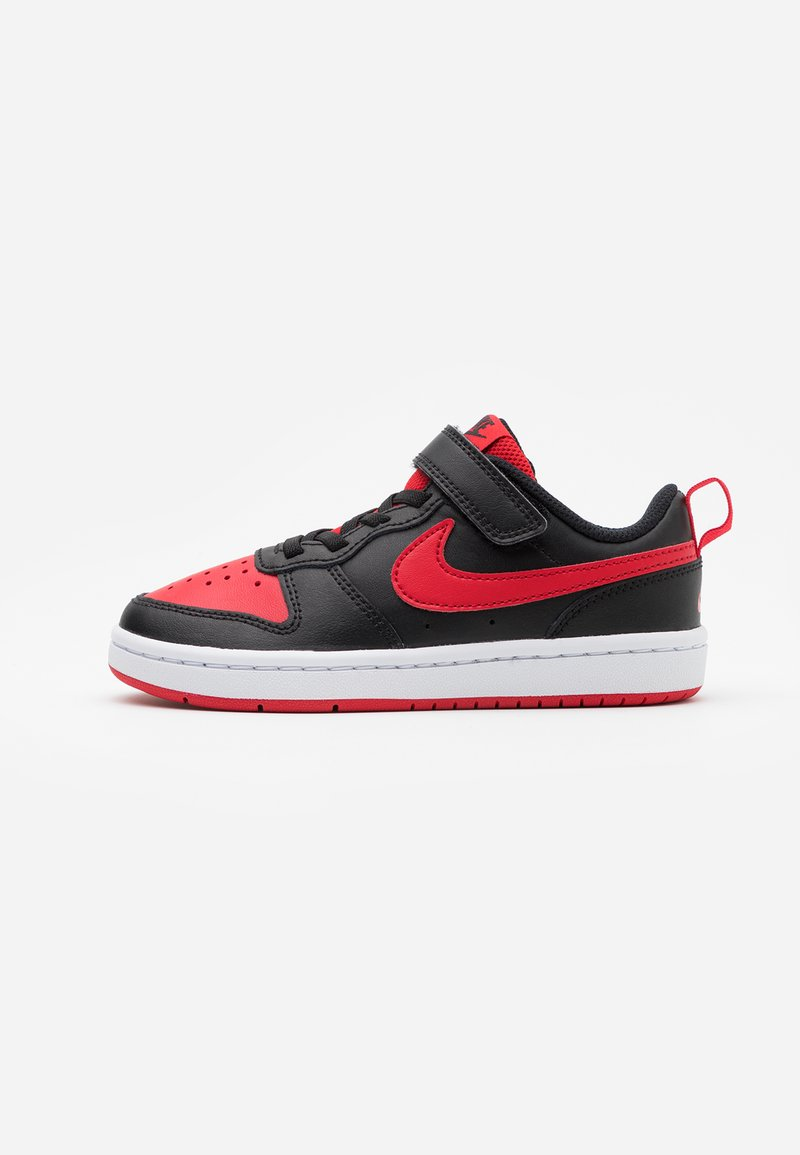 Nike Sportswear - COURT BOROUGH 2 UNISEX - Trainers - black/university red/white