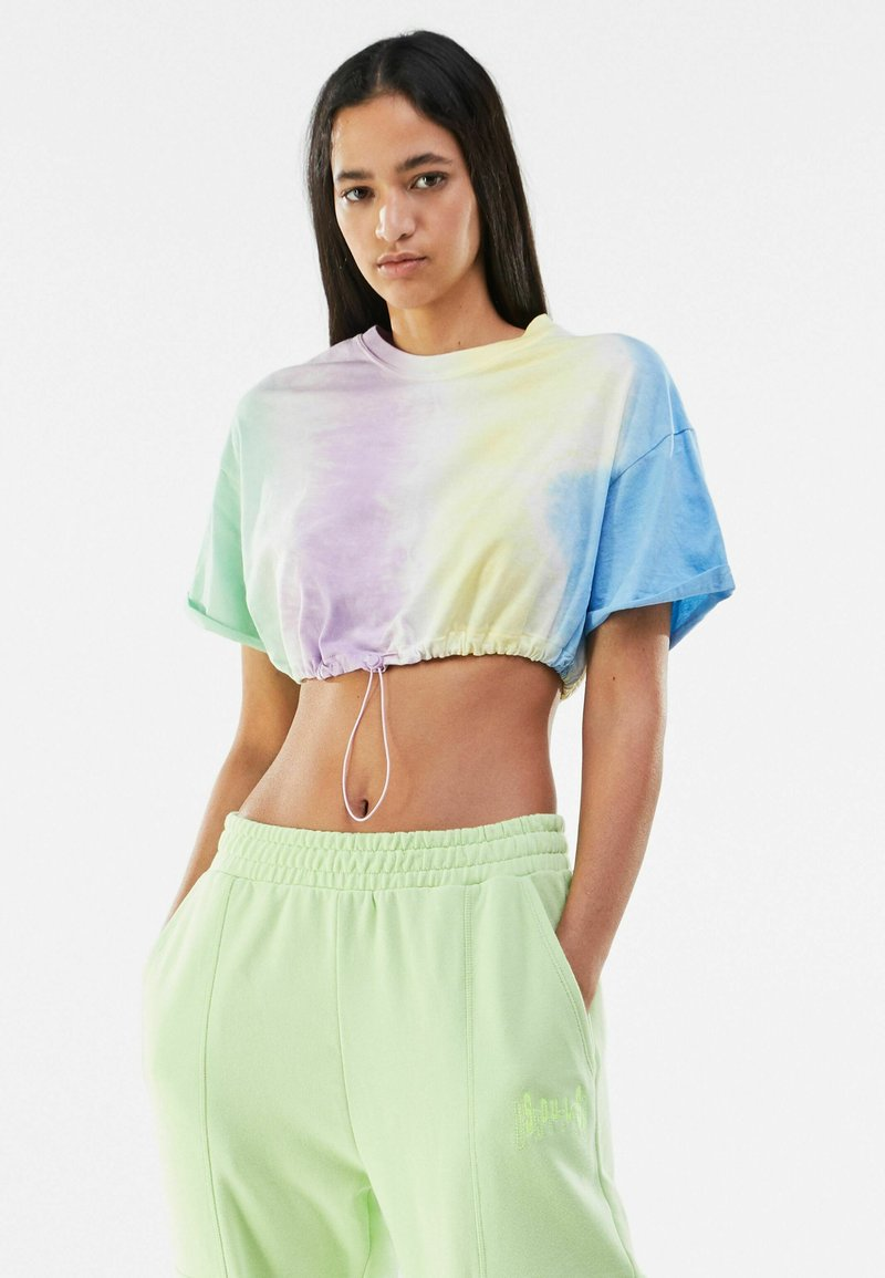 Bershka - T-shirt imprimé - multi-coloured