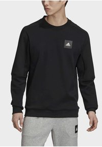 adidas Performance - MUST HAVES CREW SWEATSHIRT - Sweatshirt - black - 4