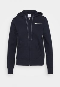 Champion - HOODED FULL ZIP - Jersey con capucha - dark blue - 3