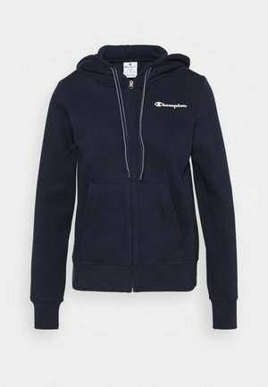 HOODED FULL ZIP - Huppari - dark blue