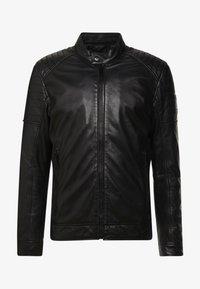 Strellson - DERRY - Leather jacket - black - 4