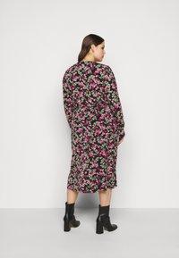 Simply Be - FLORAL MIDI DRESS - Jersey dress - black - 2