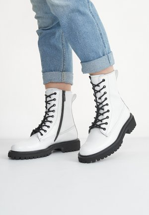 Lace-up ankle boots - weiß 027