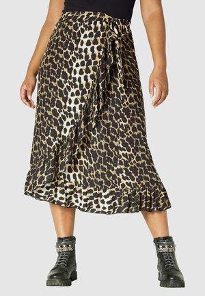 Wrap skirt - braun beige