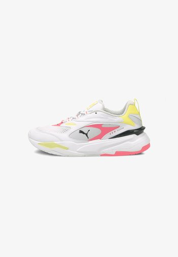 RS-FAST POP WN'S - Sneakers laag - puma white-ignite pink-soft fluo yellow