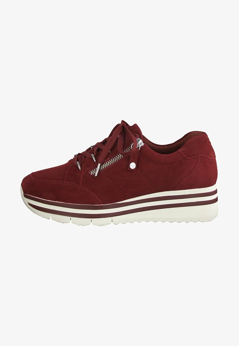 Tamaris Pure Relax - LACE UP - Trainers - scarlet suede
