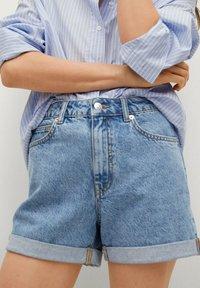 Mango - MOM - Jeansshort - middenblauw - 3