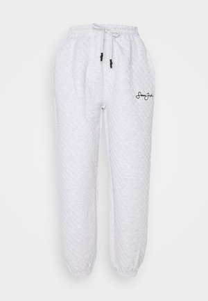 QUILTED JOGGERS - Tracksuit bottoms - grey marl