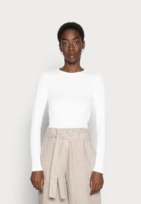 GAP - CREW - Long sleeved top - optic white - 0