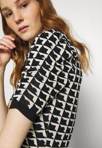 Morgan - Pouzdrové šaty - noir/offwhite - 4