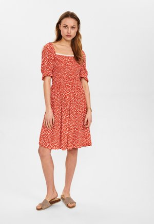 NUCARLY  - Day dress - red clay