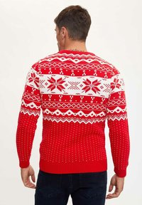 DeFacto - CHRISTMAS  - Stickad tröja - red - 1