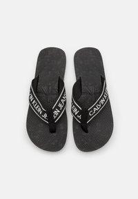Calvin Klein Jeans - BEACH INSTITUTIONAL - T-bar sandals - black - 3