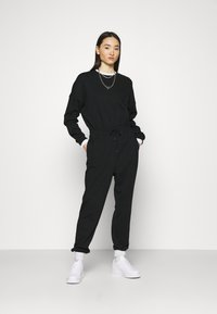 Even&Odd - SWEAT - Oversized comfy - Overall / Jumpsuit /Buksedragter - black - 0