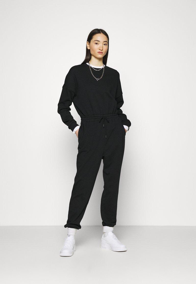 Even&Odd - SWEAT - Oversized comfy - Overall / Jumpsuit /Buksedragter - black
