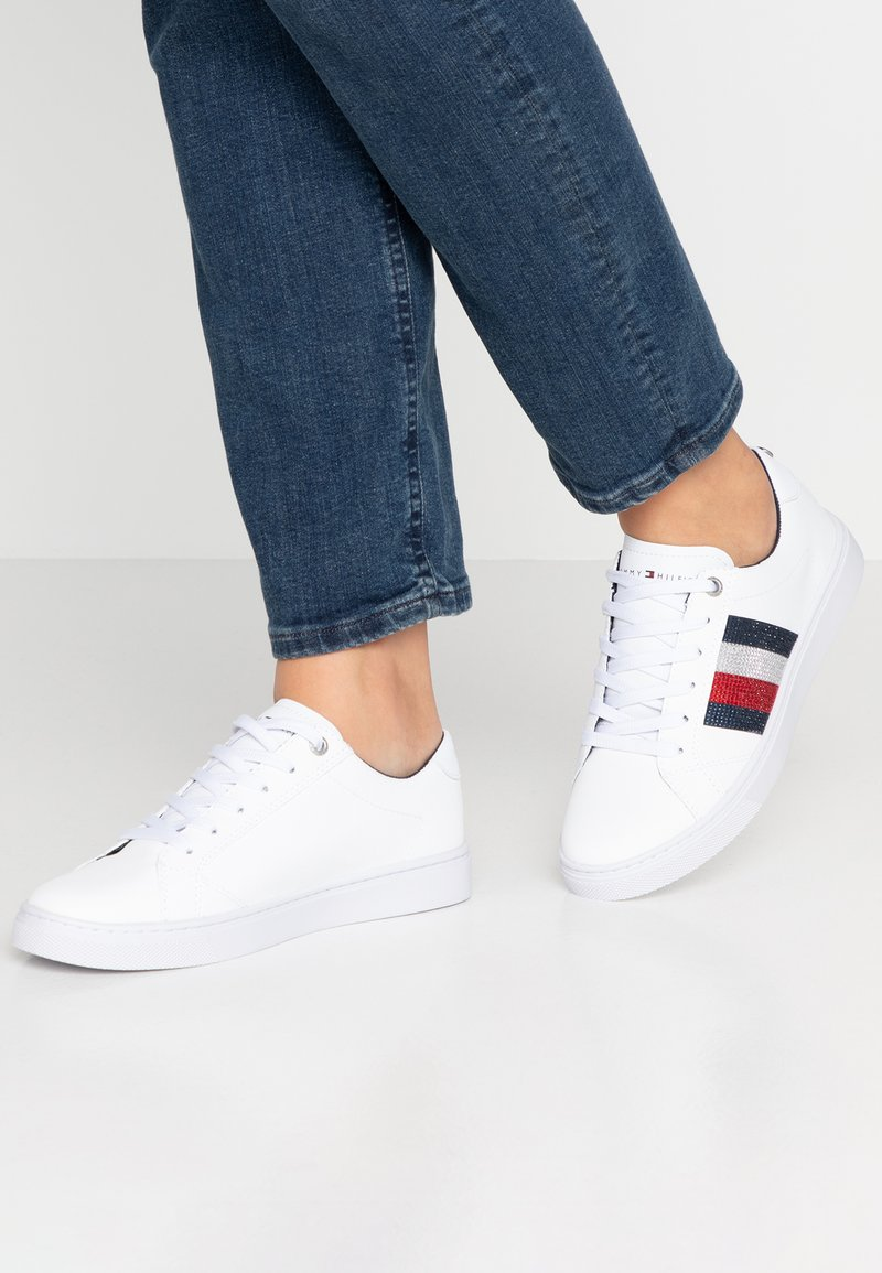 Tommy Hilfiger - CRYSTAL LEATHER CASUAL  - Trainers - white