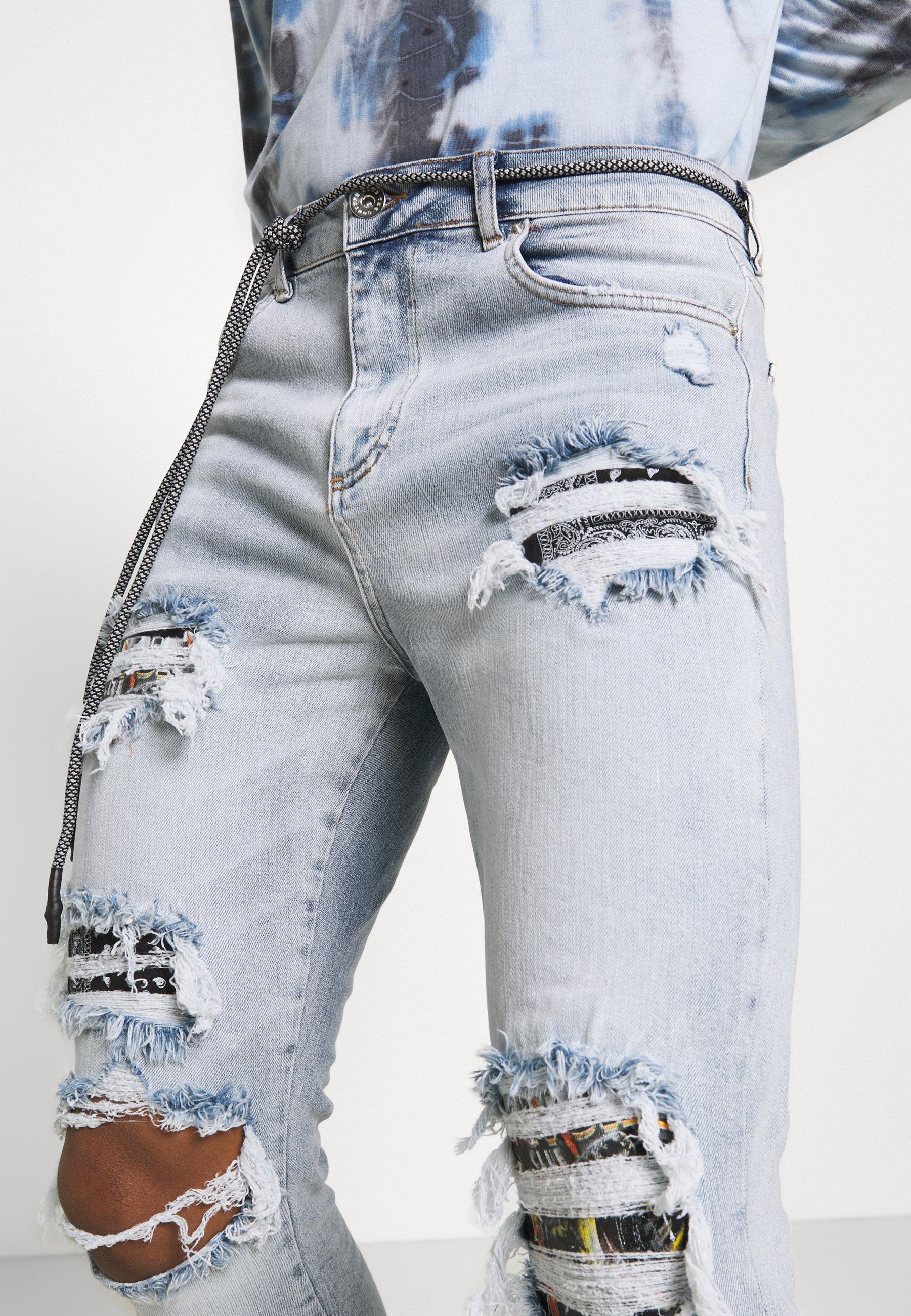Men BANDANA AND SKELTON - Slim fit jeans