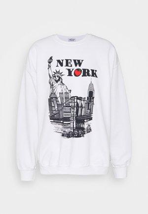 WITH NEW YORK TOURIST GRAPHIC UNISEX - Sweatshirt - ash grey