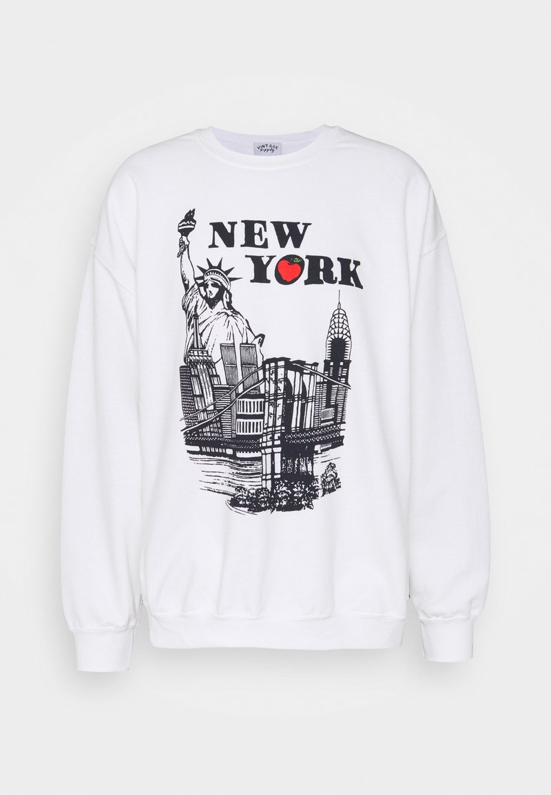 Vintage Supply - WITH NEW YORK TOURIST GRAPHIC UNISEX - Bluza - ash grey