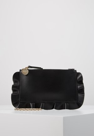 ROCK RUFFLES POUCHETTE CHAIN - Clutch - black