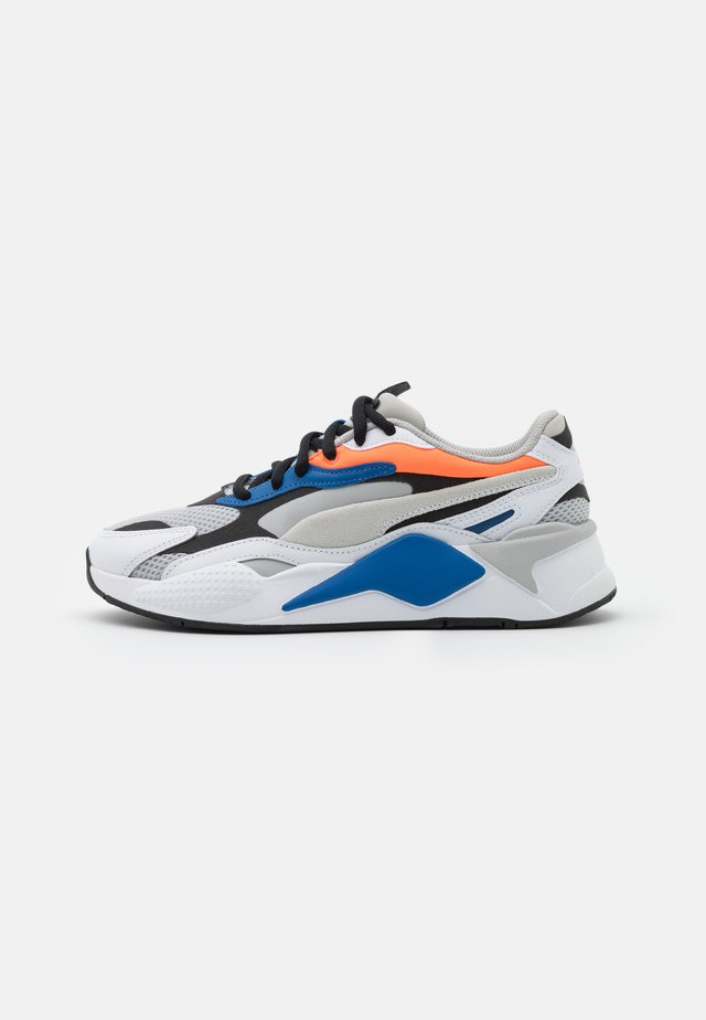 RS-X³ PRISM UNISEX - Baskets basses - gray violet/white/ultra orange