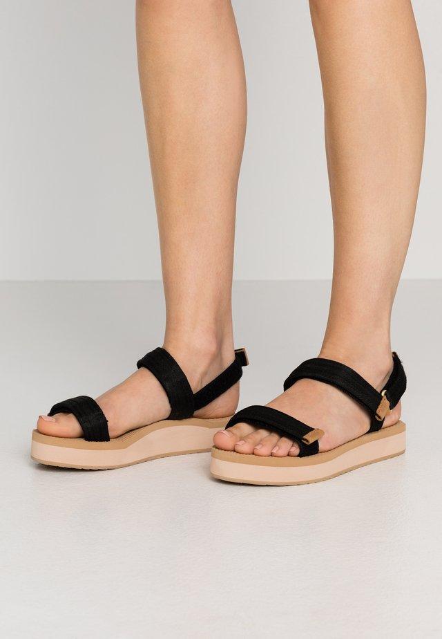VOYAGE LITE SEAS - Sandály na platformě - black
