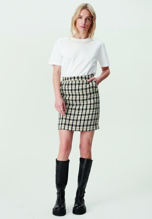 Mini skirt - black/yellow check