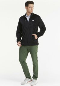 Puma Golf - SHERPA ZIP - Fleece jumper - black - 1