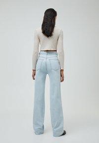 PULL&BEAR - Jeans Straight Leg - mottled dark blue - 2