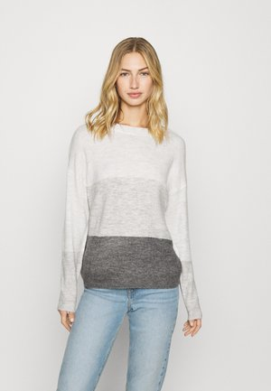 JDYELANORA STRIPE - Jumper - dark grey