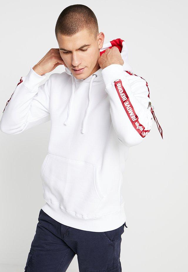 TAPE HOODY EXCLUSIV - Hættetrøjer - white