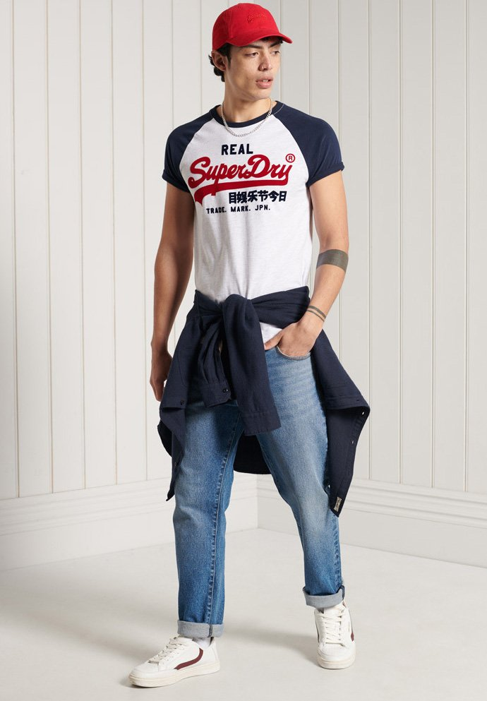 Superdry - Print T-shirt - ice marl