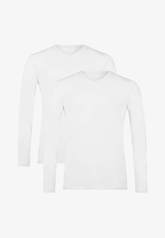 2 PACK - Long sleeved top - white