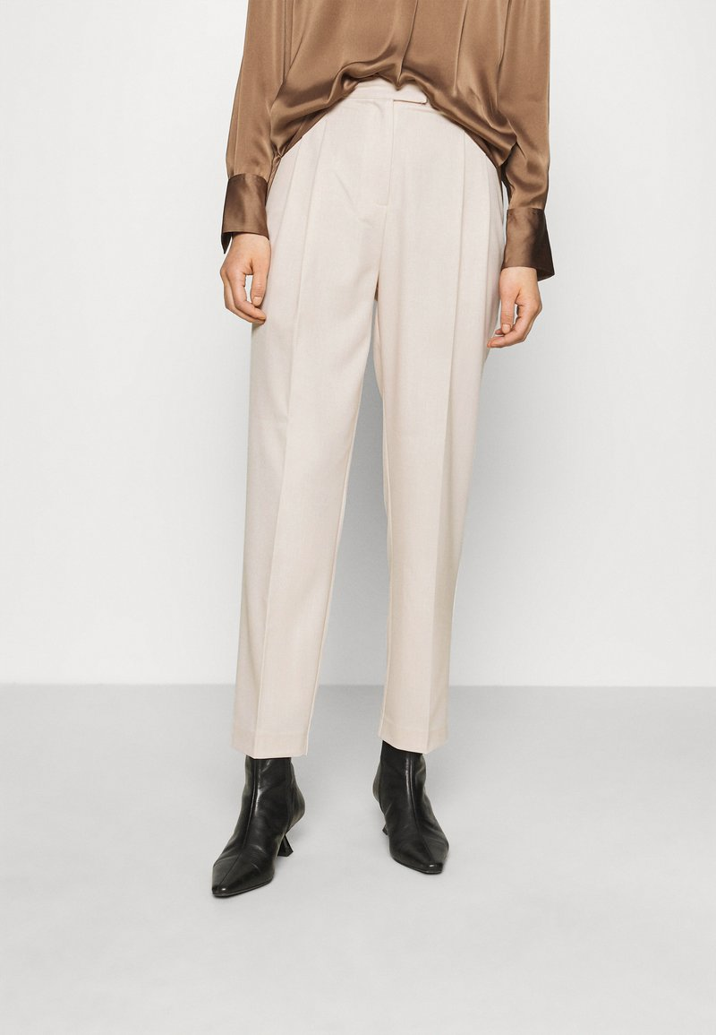 Another-Label - GALANE MELEE PANTS - Trousers - beige melee