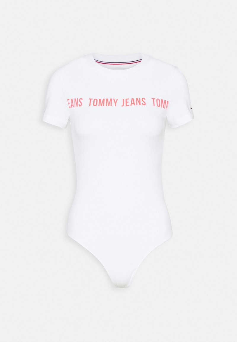 Tommy Jeans - TAPE BODY SHORTSLEEVE - Print T-shirt - white