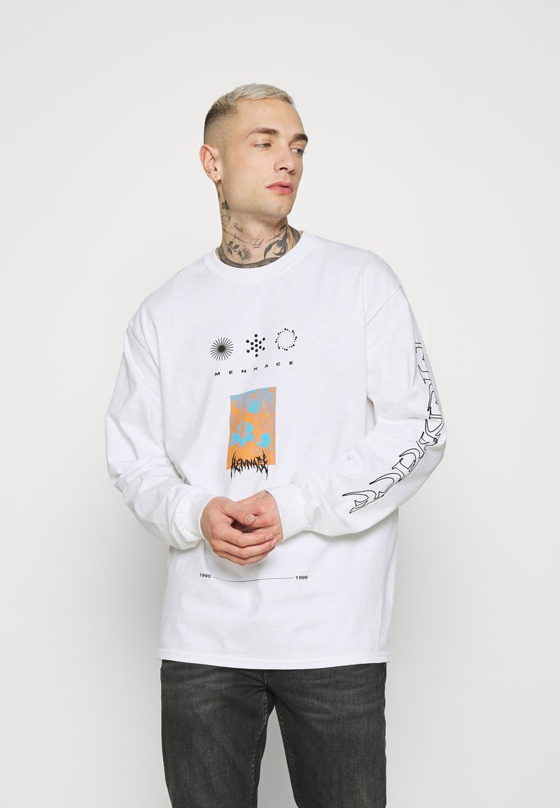Mennace - UNISEX SYMBOL - Long sleeved top - white