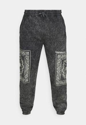 ROSEBOWL BANDANA REGULAR JOGGER - Teplákové kalhoty - black