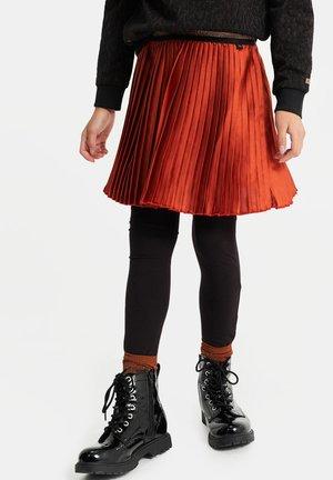 MET GLITTERDETAILS - A-line skirt - rust brown