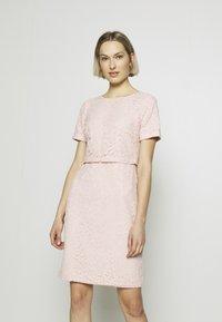 Lauren Ralph Lauren - PIAZZA FLORAL  - Koktejlové šaty/ šaty na párty - pink macaron - 0