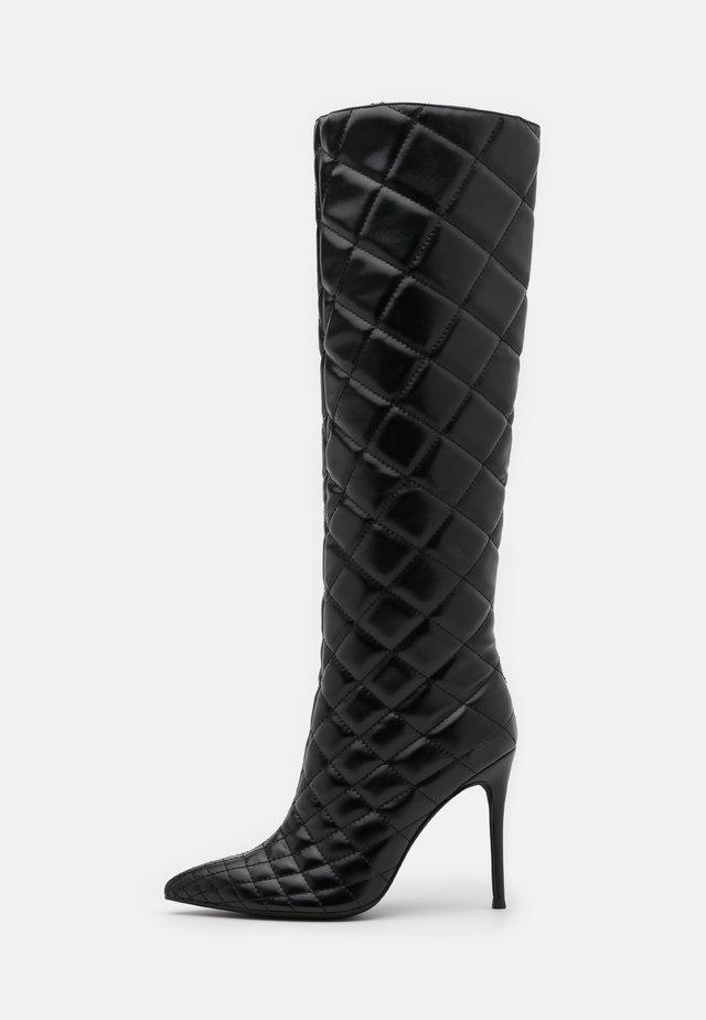 ARSEN - Kozačky na vysokém podpatku - black
